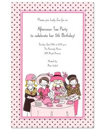 Little Tea Party Invitation