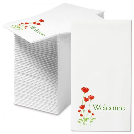Welcome Poppies Hand Towels
