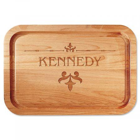 Fleur de lis Engraved Alder Wood Cutting Board