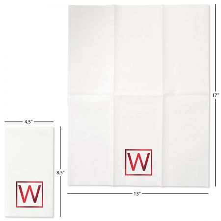 Square Initial Disposable Hand Towels