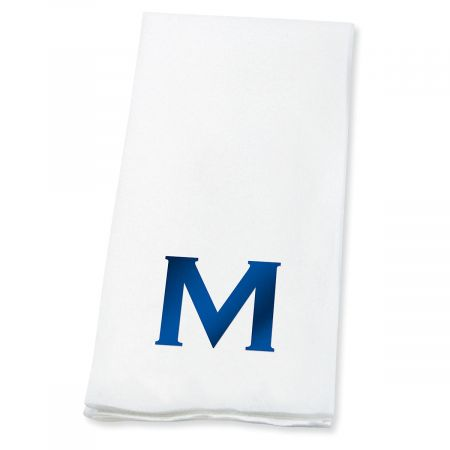 Bold Initial Disposable Hand Towels