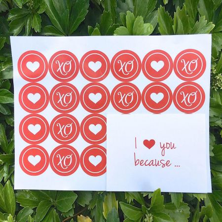 I Love You Because...Envelope Seals