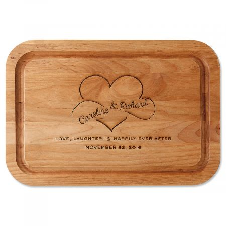 Happily Ever After Engraved Alder Wood Cutting Board