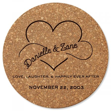 Happily Ever After Round Cork Trivet