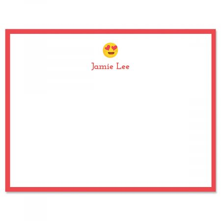 Red Heart Eye Emoji Correspondence Cards