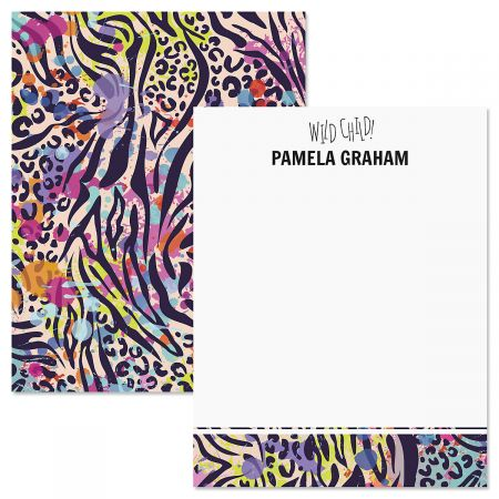 Wild Child Animal Print Correspondence Cards