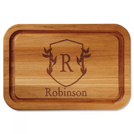 Scholar Crest Engraved Alder Wood Cutting Board