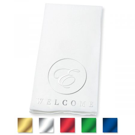 Welcome Circle Initial Disposable Hand Towel