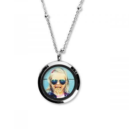 Round Photo Custom Necklace