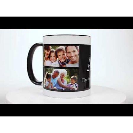 Family Name Custom Ceramic Photo Mug
