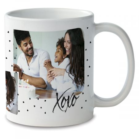 Family Hearts Custom Ceramic Photo Mug