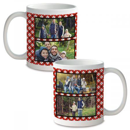 Plaid Custom Ceramic Photo Mug