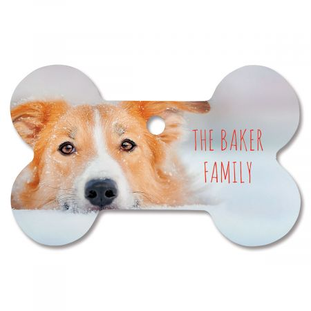 Family Name Custom Photo Bone Ornament