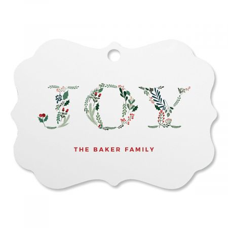 Botanical Joy Custom Ornament
