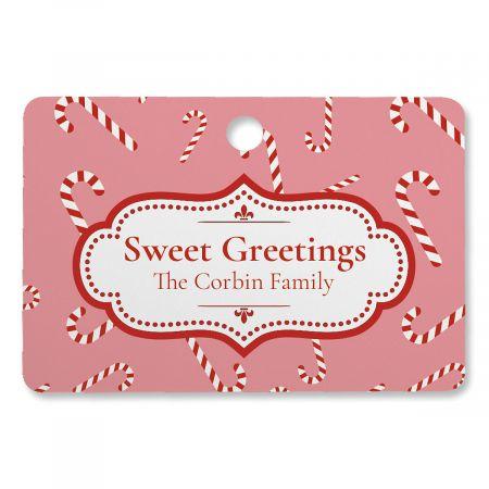 Sweet Greetings Custom Rectangle Ornament