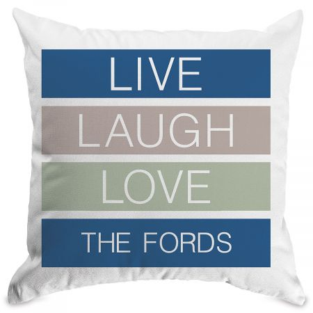 Live Laugh Love Customized White Pillow