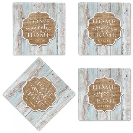 Home Sweet Home Customized Ceramic Coasters