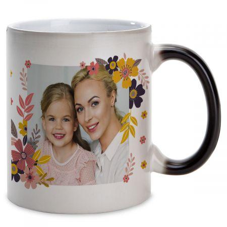 Floral Personalized Photo Mug