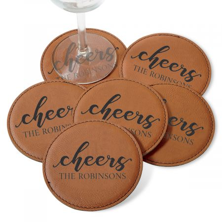 Personalized Cheers Coaster Set