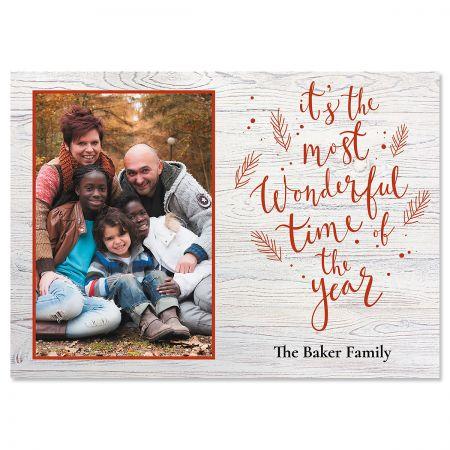 Wonderful Year Personalized Photo Christmas Cards