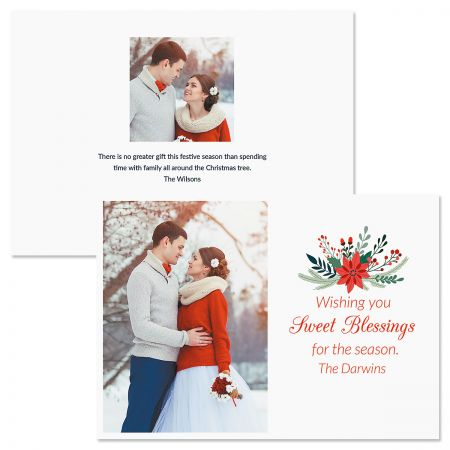 Sweet Blessings Personalized Photo Christmas Cards