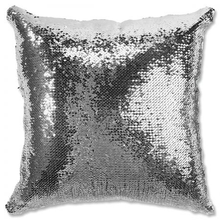 Sequined Santa's Face Personalized Pillow turned