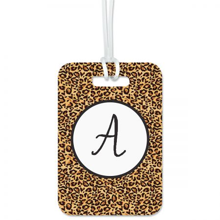 Custom Cheetah Print Luggage Tag