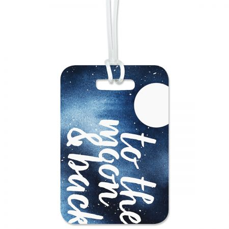 Custom To The Moon Luggage Tag