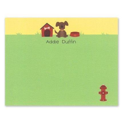 Puppy Flat Card