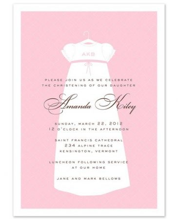 Dressed In Pink Invitation