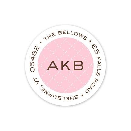 Pink Diamond Address Label