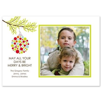 Hip Ornament Photo Card