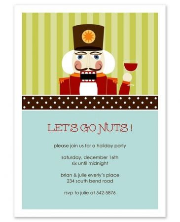 Mr. Nutcracker Invitation