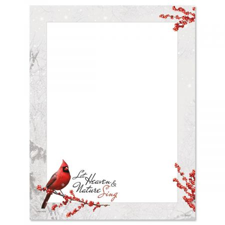 Winterberry Cardinal Letter Papers