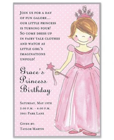Princess Girl Invitation