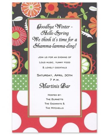 Black Mixer Invitation