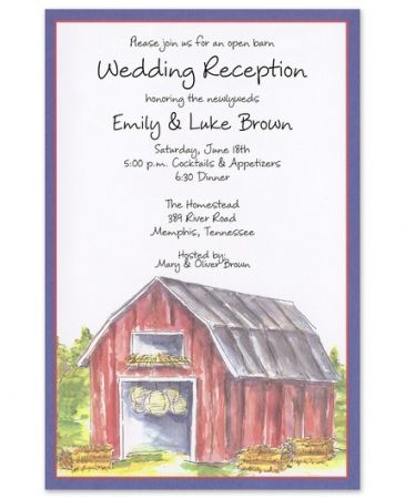 Barn Party Invitation