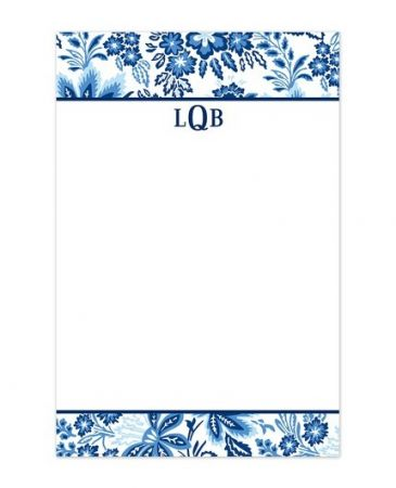 Willow Floral Blue Note Pad