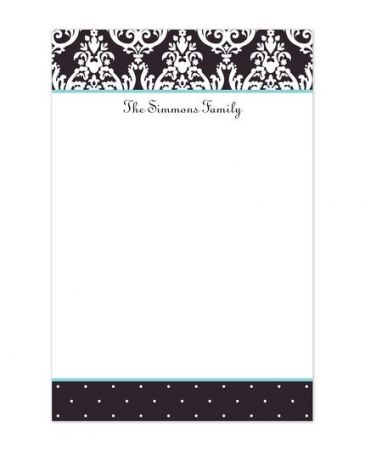 Black Madison Note Pad