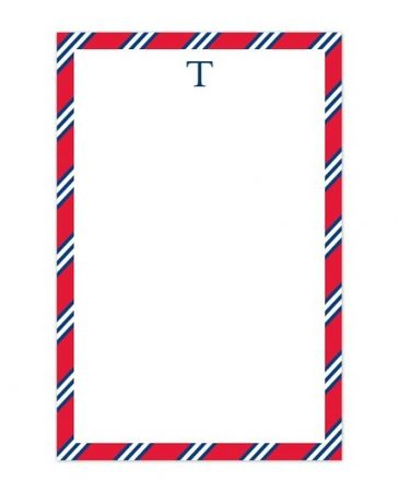 Red & Navy Tie Note Pad