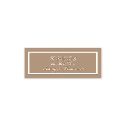 Mocha Address Label
