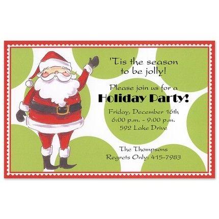 Jolly Santa Invitation