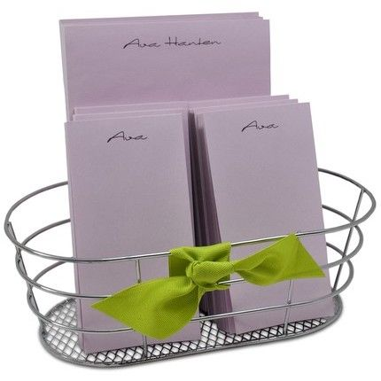 Orchid Note Pads & Basket