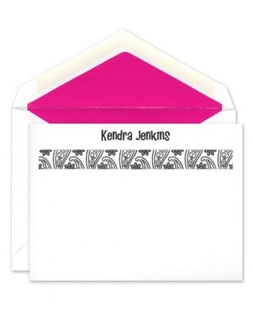 Paisley Print Flat Card