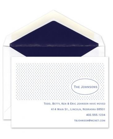 Dots Address Flat Card