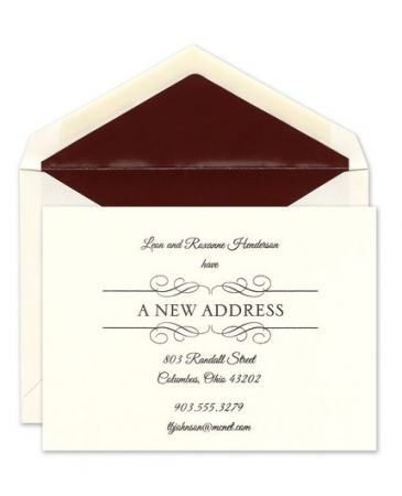 Scroll Address Flat Card