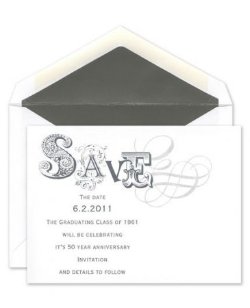 Save the Date Flat Card