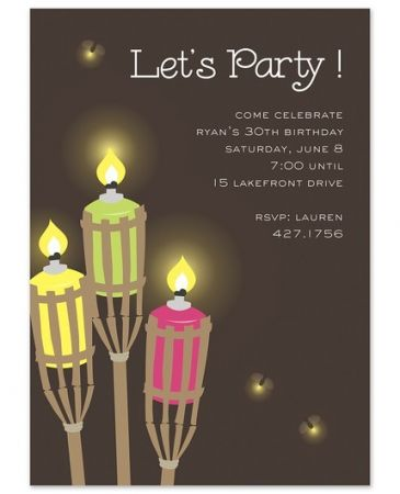 Tiki Torches Invitation