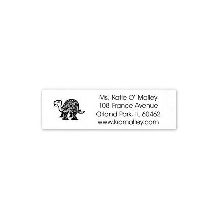 Gray Address Label