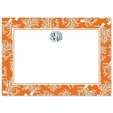 Orange Coral Flat Card